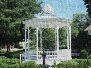 Grace Park Gazeebo on Canvas
