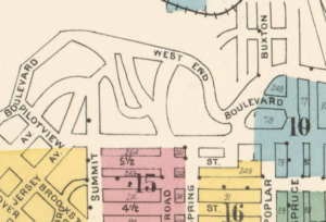 This Section of West End Blvd was not detailed in the 1912 Sanborn Map.